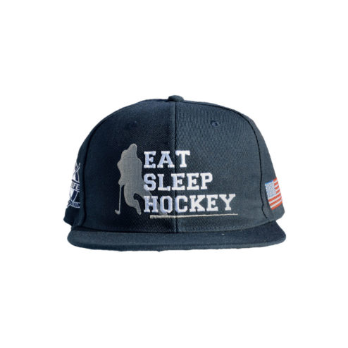 Eat Sleep Hockey Snapback Navy