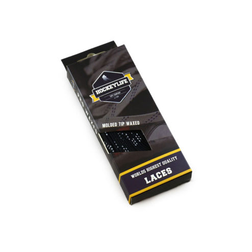 Howies Waxed Hockey Laces Black